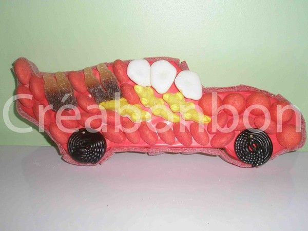 Support gateau bonbon voiture